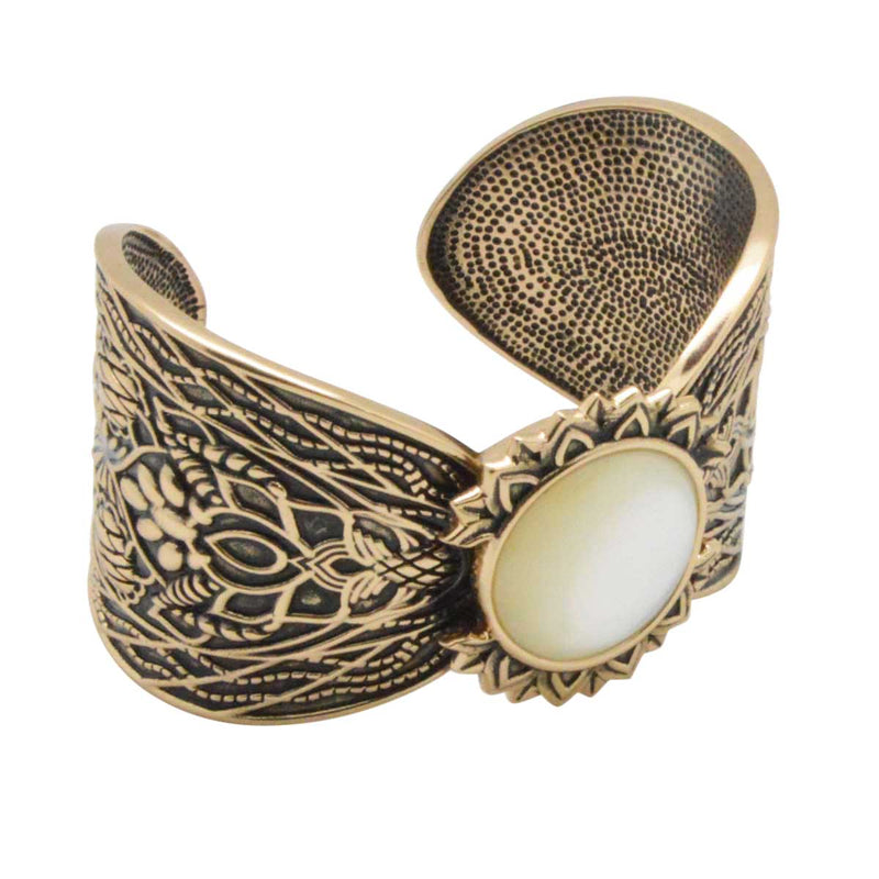 Lady Katherine Mother of Pearl Cuff Bracelet