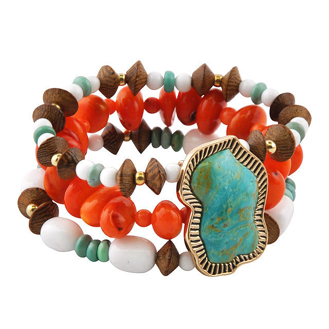 Arizonal Multi-Stone Stretch Bracelet
