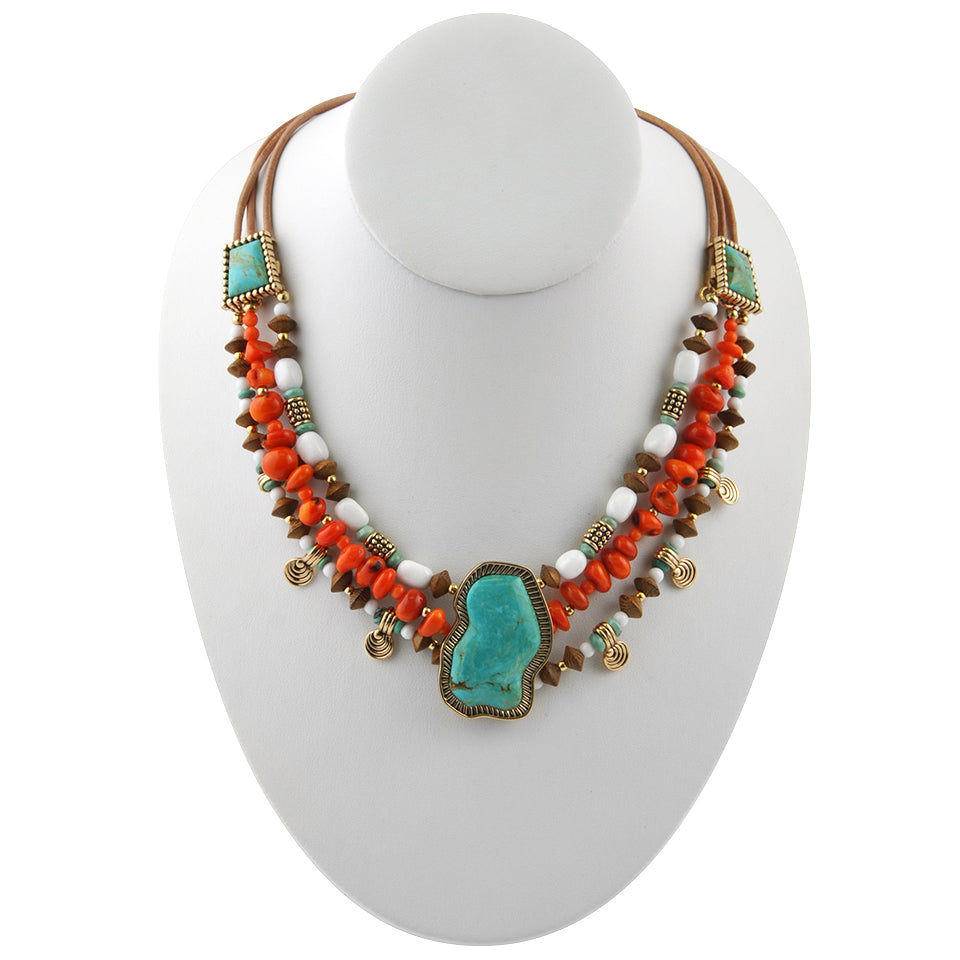Arizonal Multi-Stone Necklace