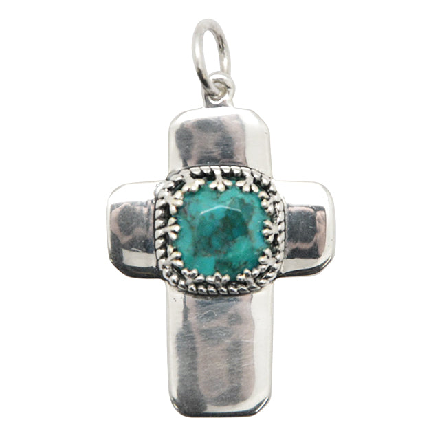 Certainty Turquoise and Silver Pendant