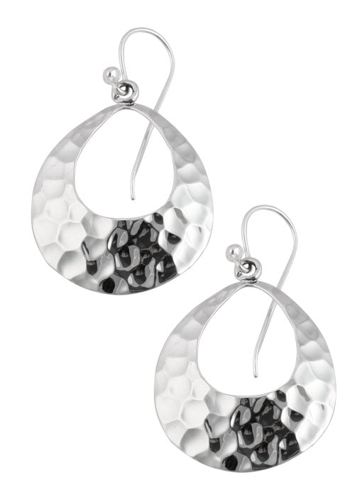 Hammered Silver Earring