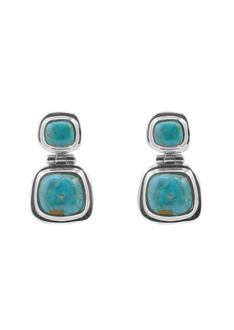 Turquoise Drop Post Earring
