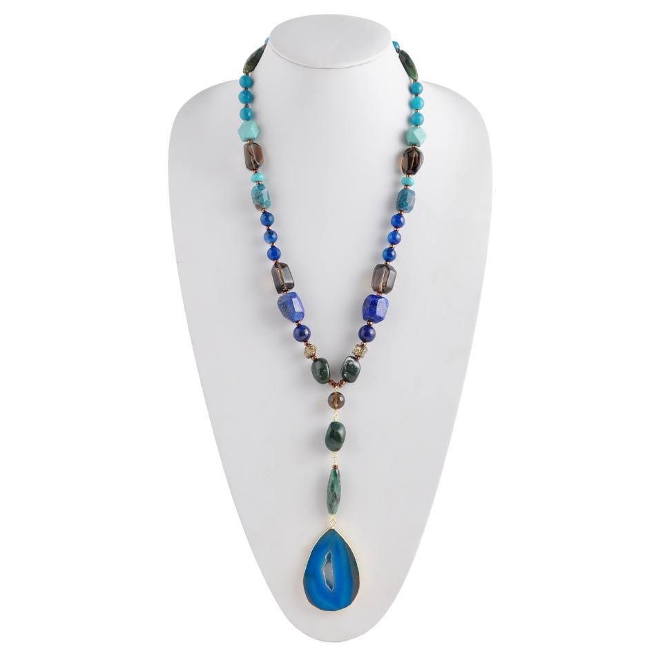 Blue Grotto Agate Necklace