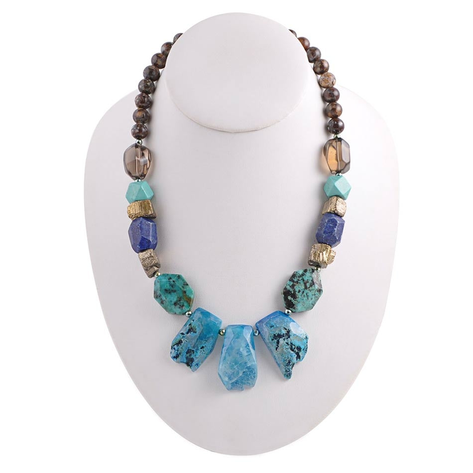 Teal Grotto Stone Necklace