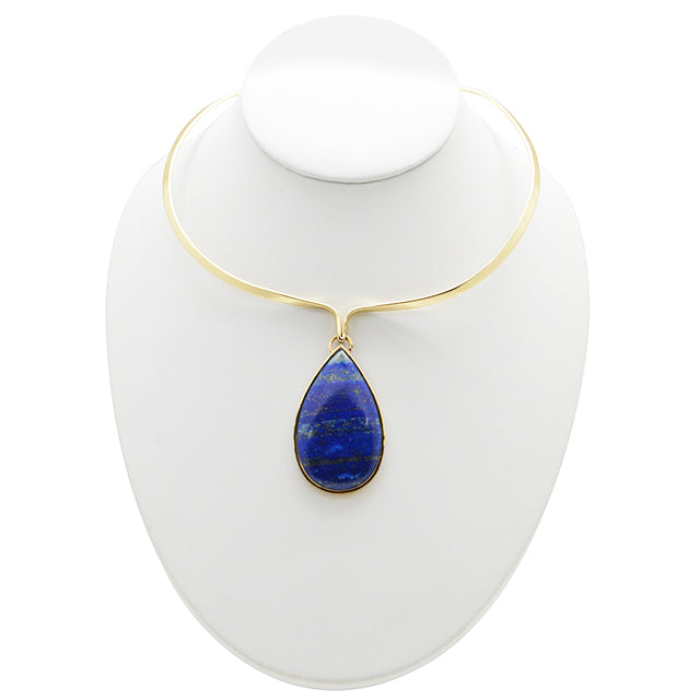 """It's Mined"" Necklace- Bronze and Lapis"