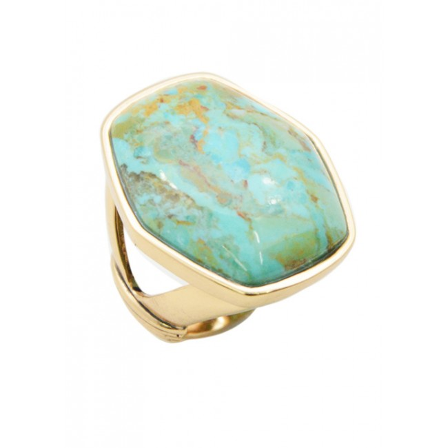 Turquoise and Bronze Ring