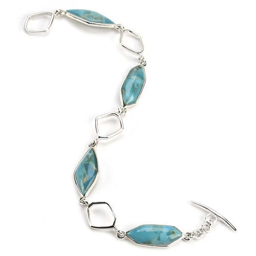Abstract Turquoise Link Bracelet