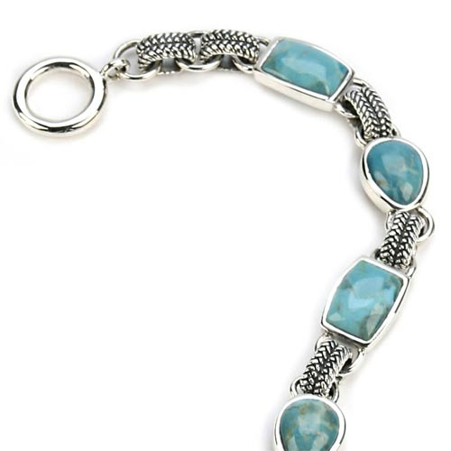 Rope Turquoise Link Bracelet