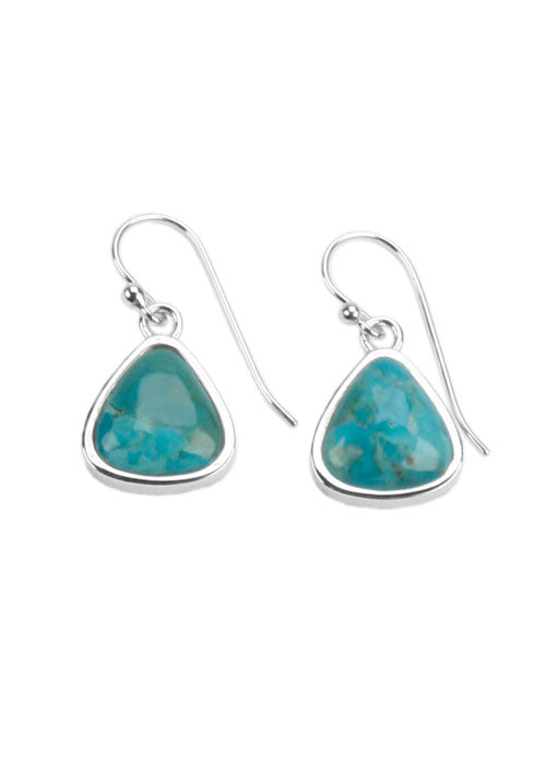 Triangular Turquoise Earring