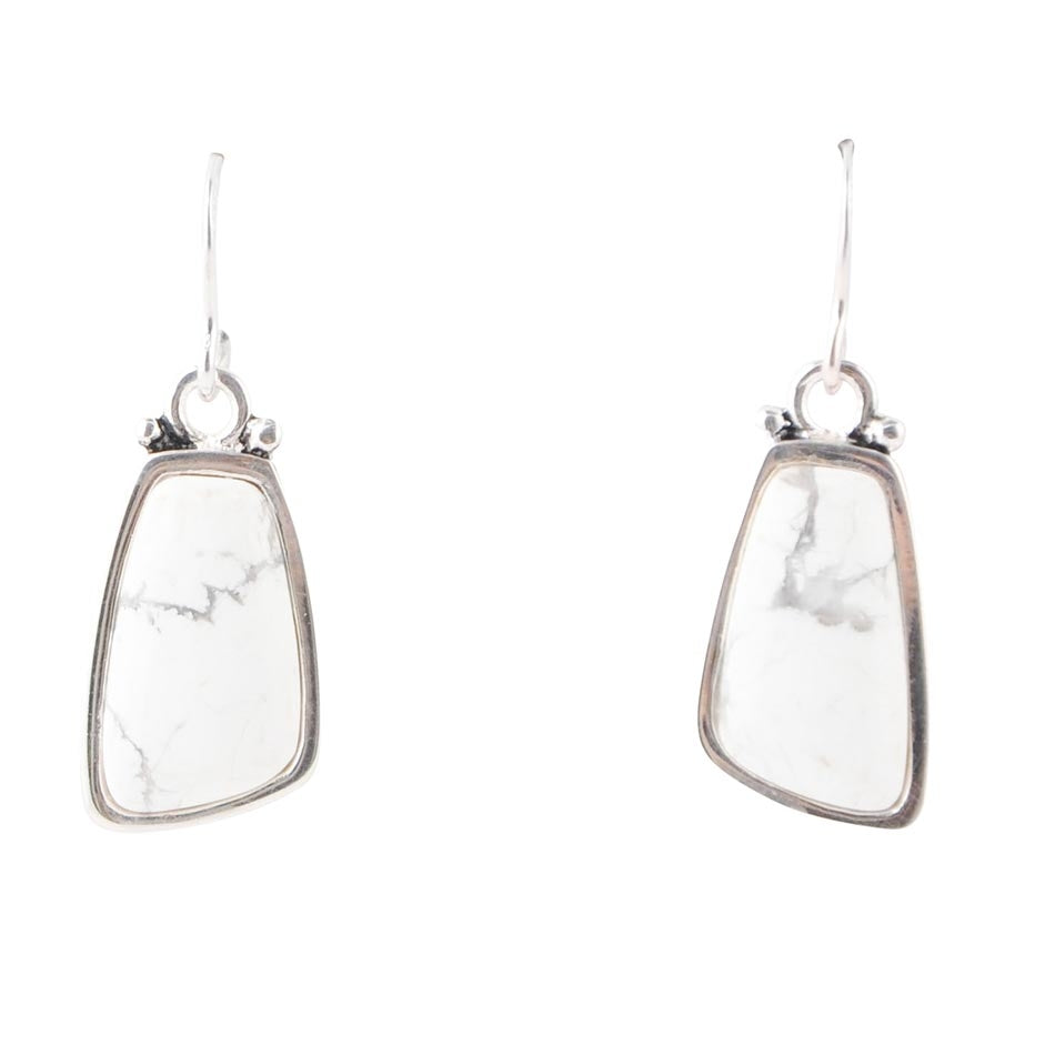 Abstract Howlite Earring