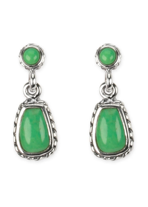 Hinged Lime Turquoise Earring