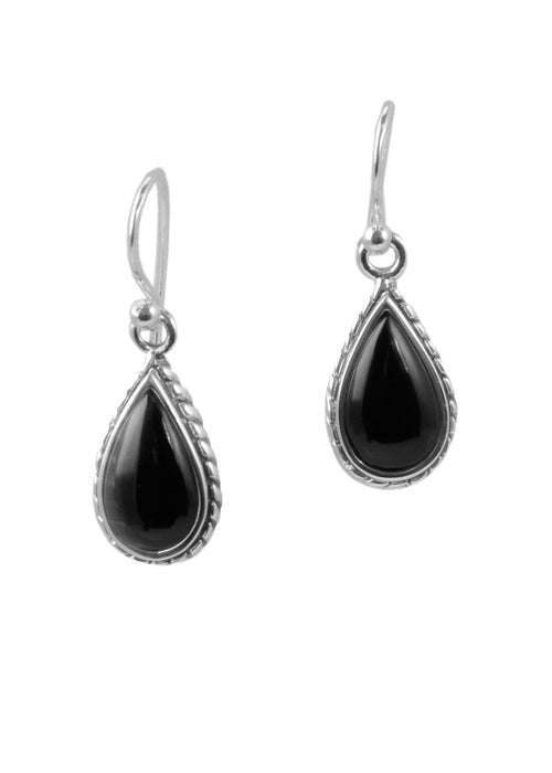 Onyx Roped Teardrop Earring