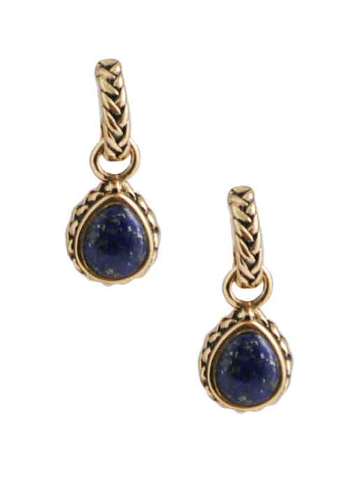 Lapis Roped Charm Earring
