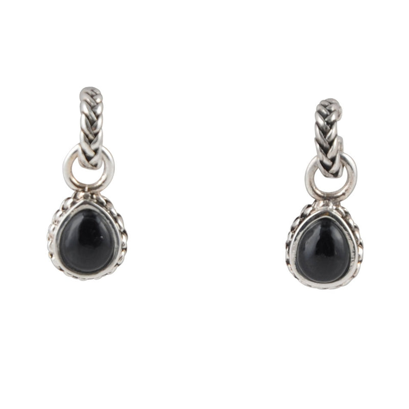 Black Onyx Roped Charm Earring