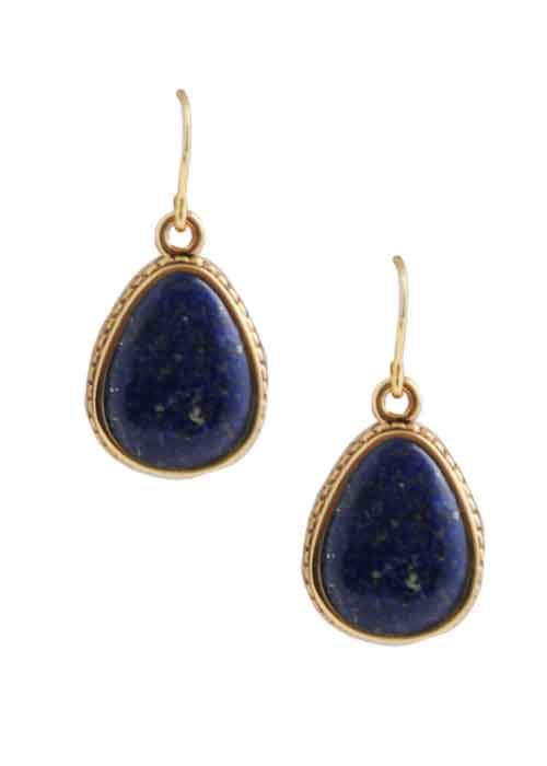 Teardrop Mother of Pearl Drop Earring-Bronze