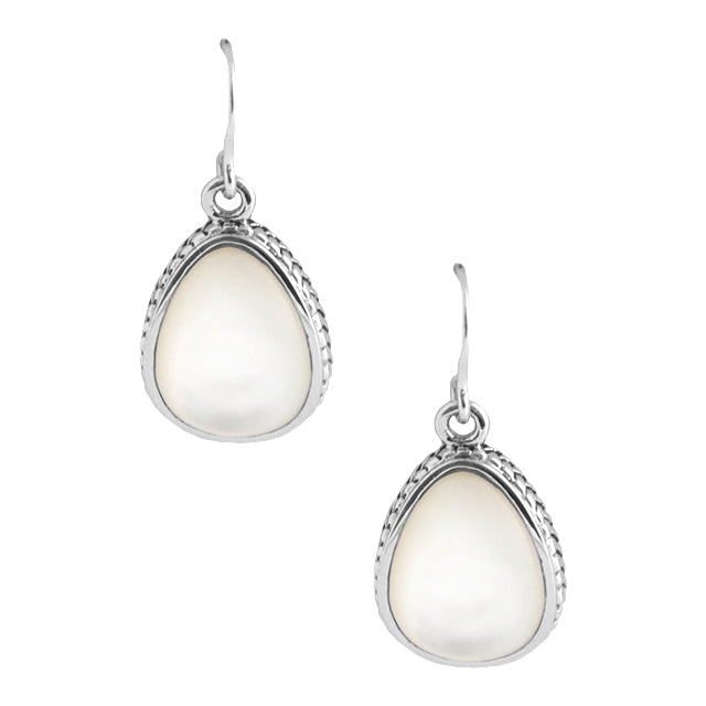 Mother of Pearl Teardrop Earring-Sterling Silver