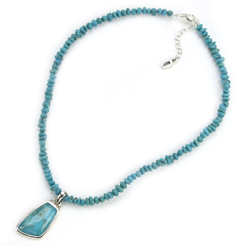 Abstract Turquoise Nugget Necklace