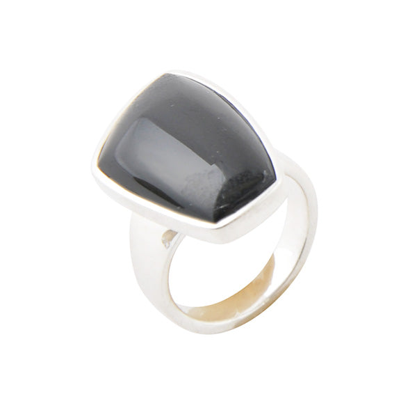 Abstract Black Onyx Ring