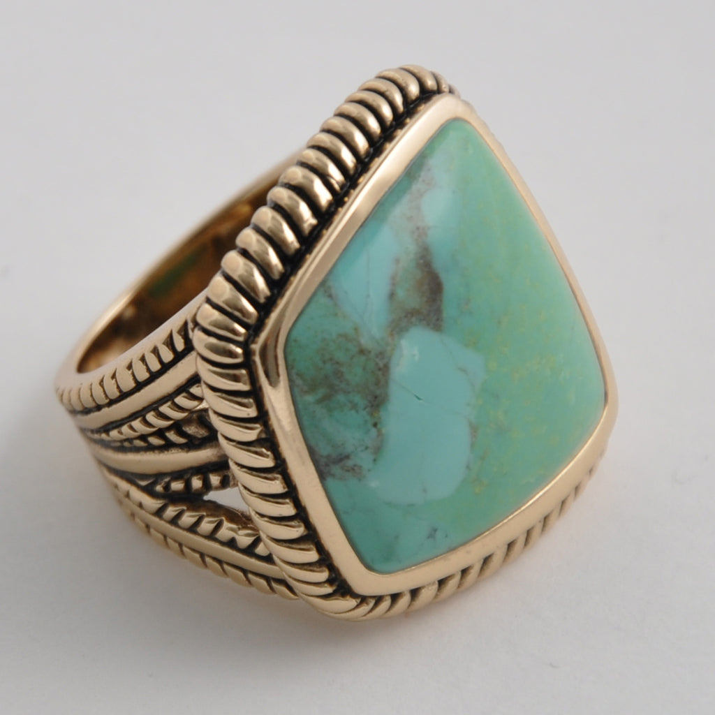 Abstract Cut Turquoise Ring