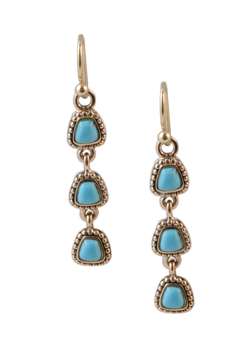 Turquoise Howlite Drop Earring