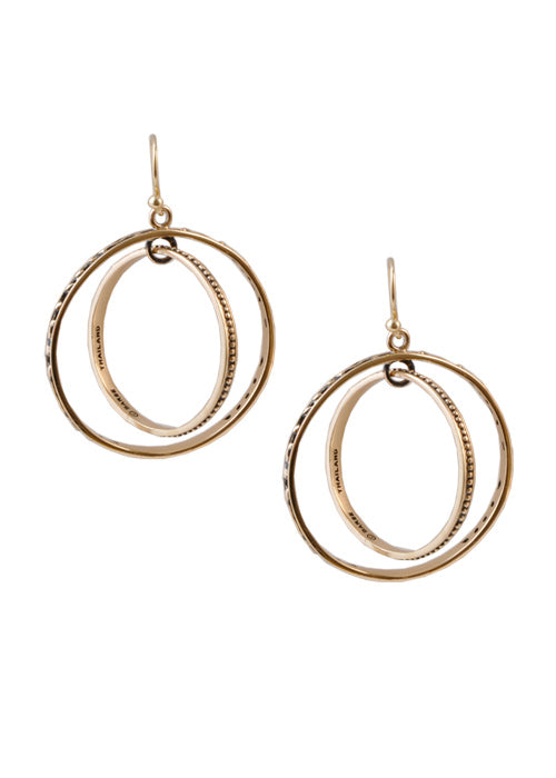 Bronze Circle Earring
