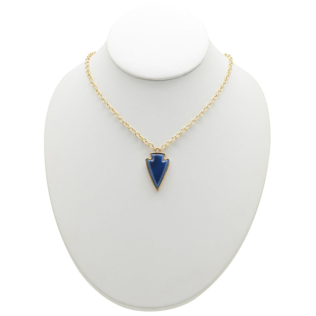 Andromeda Necklace-Blue Agate