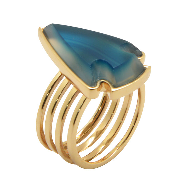 Xena Ring-Blue Agate