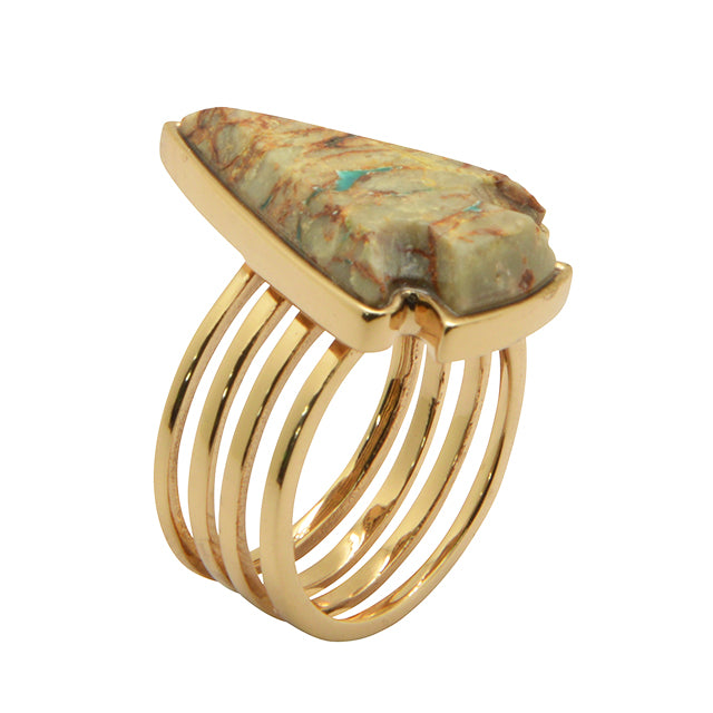 Xena Ring-Boulder Turquoise