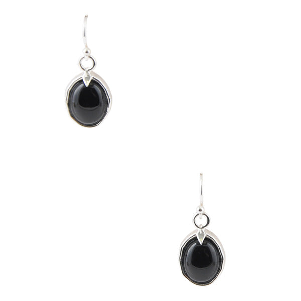 Black Onyx Oval Earring