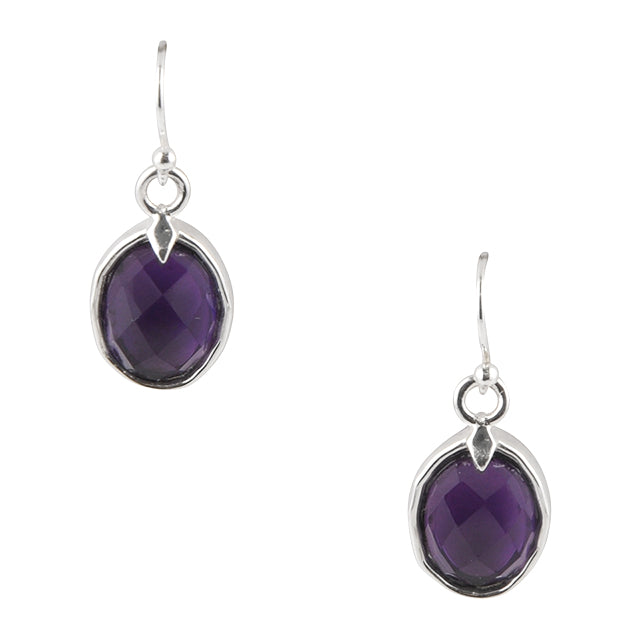 Purple Portrait Amethyst Earring