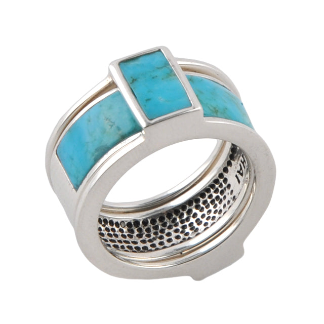 BFF Multiple Ring- Sterling Silver and Turquoise