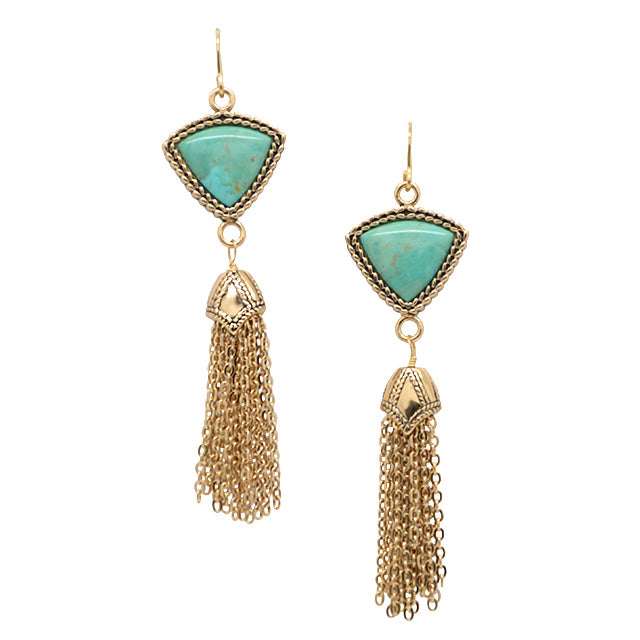 Bijoux Turquoise and Bronze Earring