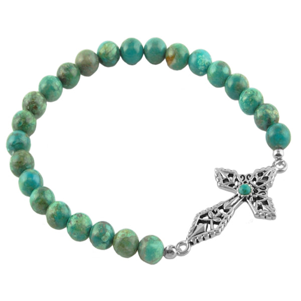Blessed Cross Stretch Bracelet