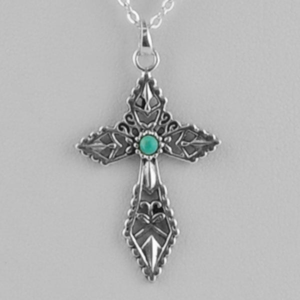 Blessed Cross Turquoise Necklace