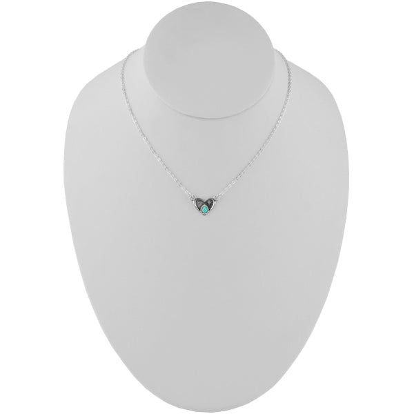 Love Does Turquoise Heart Necklace