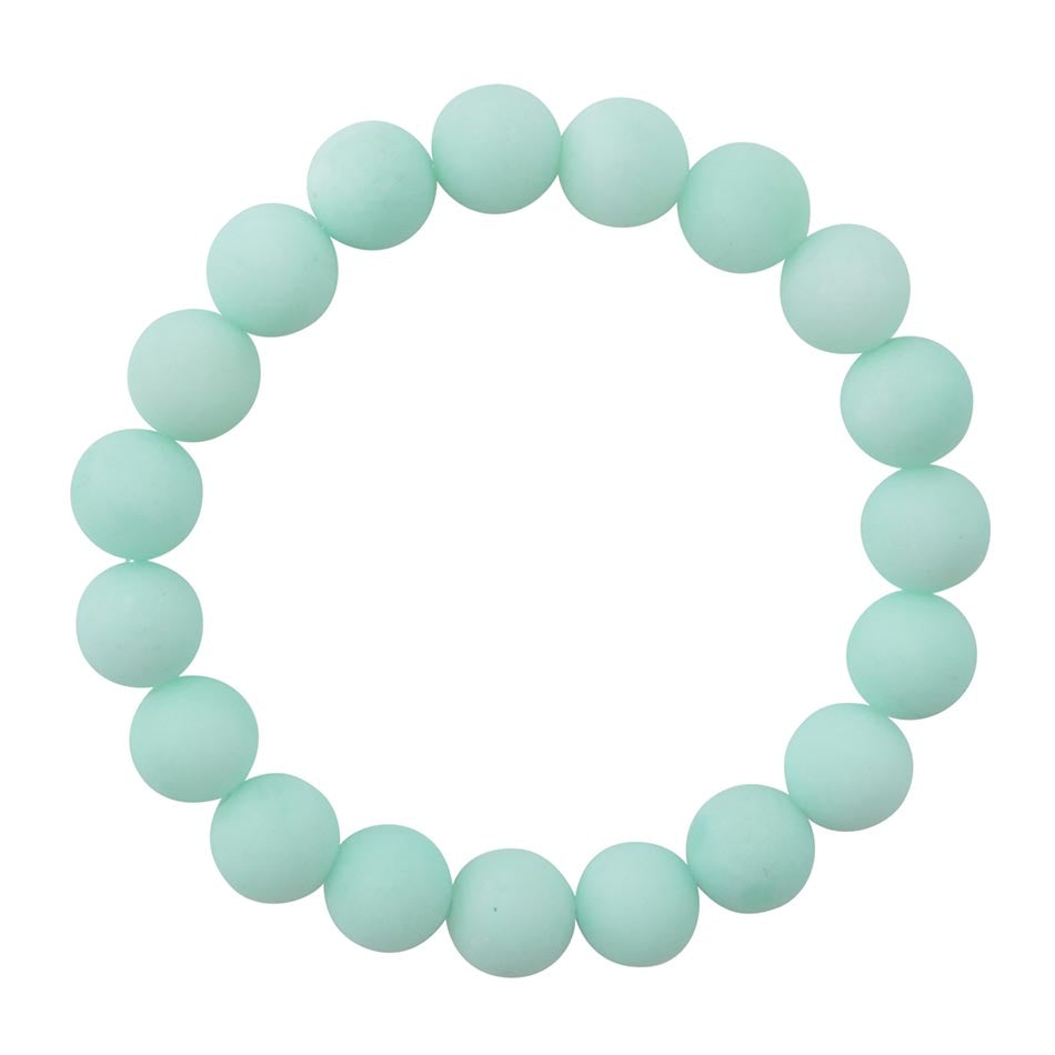 Mint Jade Stretch Bracelet-Matte