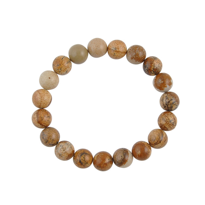 Pretty As A Picture Jasper Stretch Bracelet