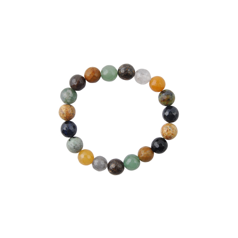 Faceted Agate Stretch Bracelet