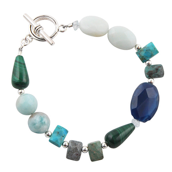 Aguadevida Stone and Sterling Bracelet