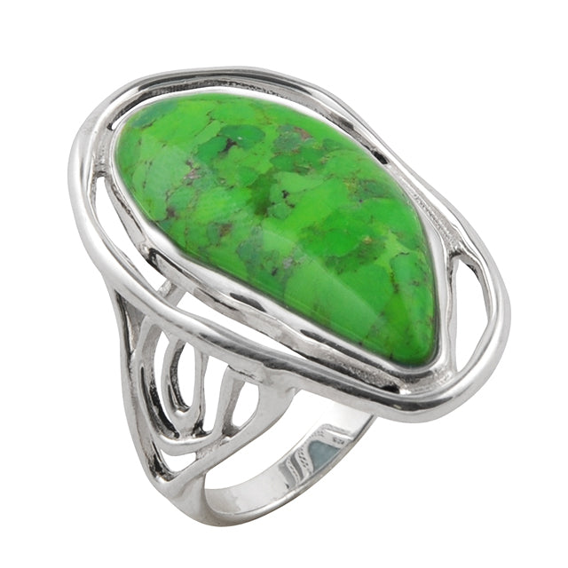 Unravel Lime Turquoise Ring