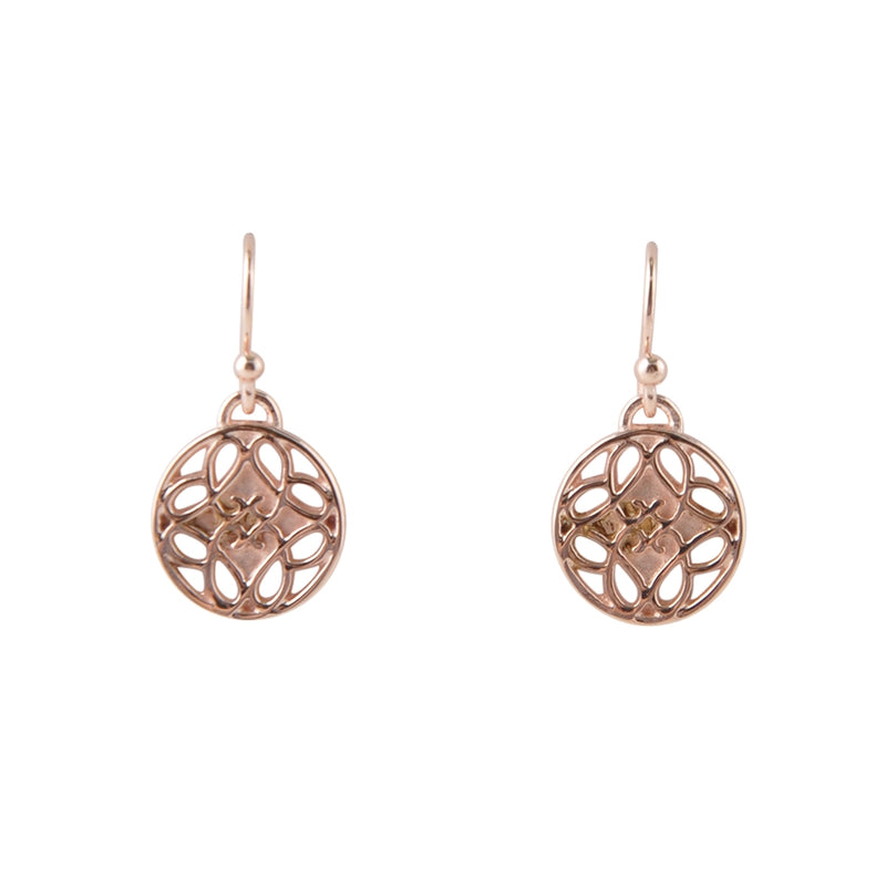 Rose Gold Vermeil Scroll Earring