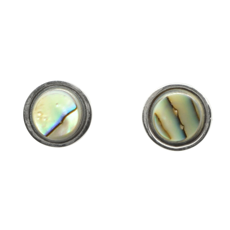 Faceted Stone Stud Earring-Abalone