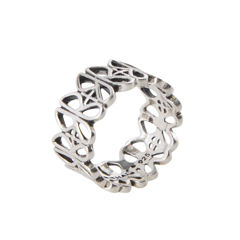Sterling Silver J Scroll Band Ring