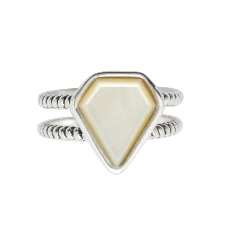 Mother of Pearl Double Band Ring