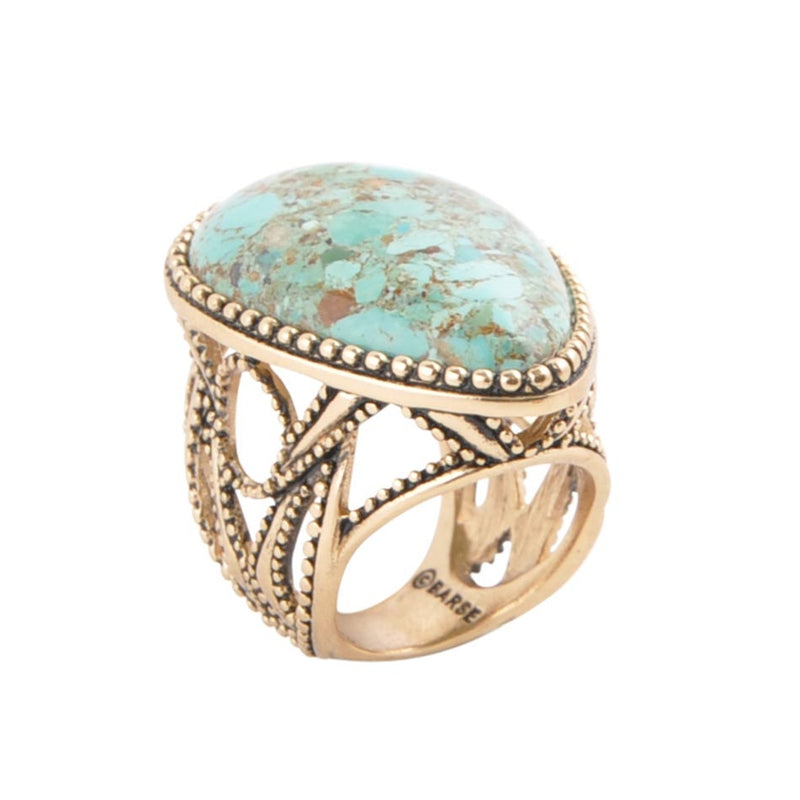 Sublime Turquoise Teardrop Ring