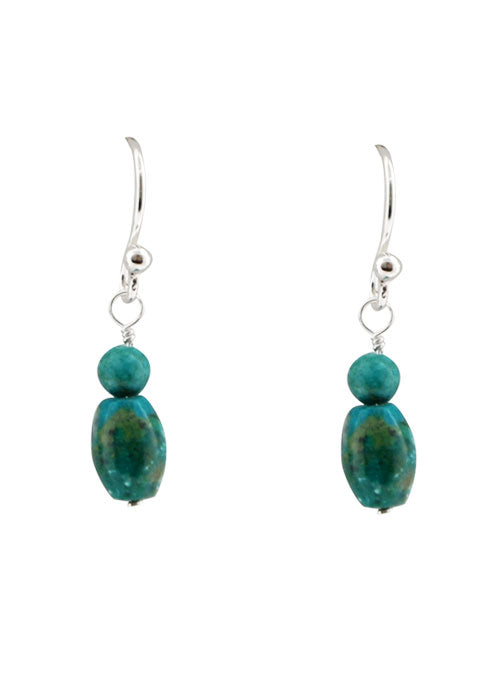 Dainty Turquoise Sterling Earrings