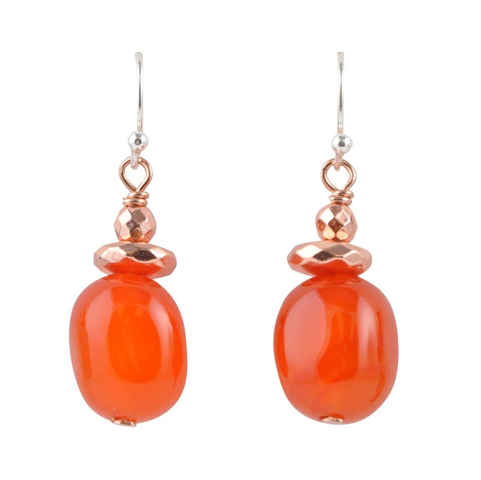 Drop On By - Carnelian Earring