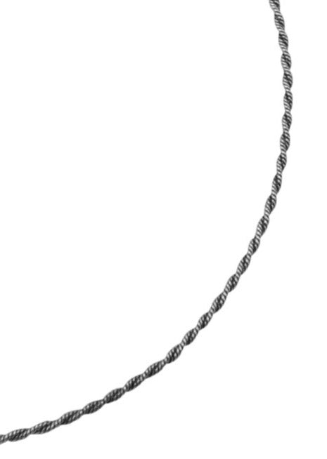 Sterling Silver Oxidized Rope Chain-16""