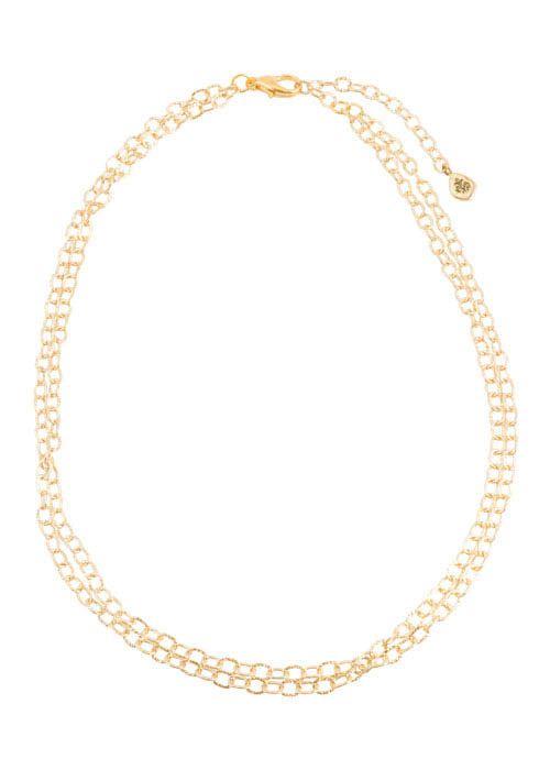 Double Strand 2mm Bronze Link Chain- 18""