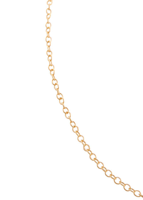 Simple 1mm Bronze Link Chain-20""